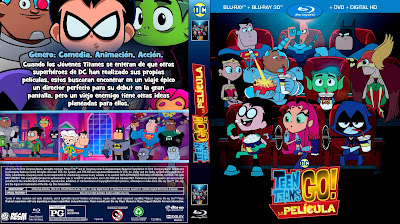 CARATULA JOVENES TITANES EN ACCION! LA PELICULA - TEEN TITANS GO! TO THE MOVIES - 2018