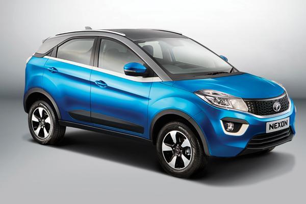 Tata Nexon SUV side look pics