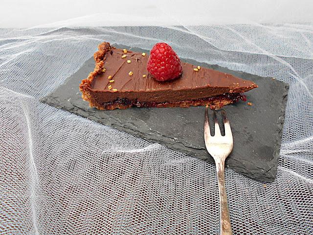 gamache chocolate e frutos vermelhos tarte