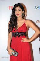 ishita Raj Sharma in Red Gown Stunning Beauty at success party of film sonu ke u ki sweety 001.JPG
