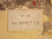 Jewish Ghetto Sign, Liguria Italy