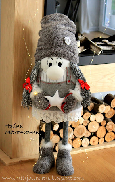 Skrzaty świąteczne, krasnale na Boże Narodzenie DIY. Christmas gnome DIY Skrzat duży ręcznie robiony
