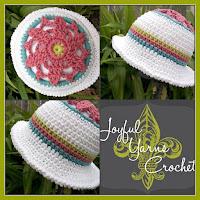 Crochet Aster Sunhat