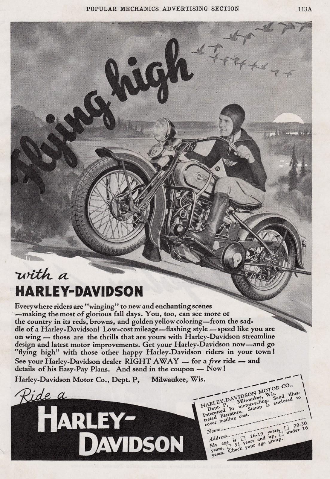 Harley Davidson Advertising: Ghosts Of The Great Highway: Retro Rewind. Vintage Harley