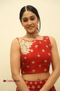 Regina Cassandra in Lovely Red Choli and Skirt Blouse at Music Launch of Movie WOW Cute Beauty