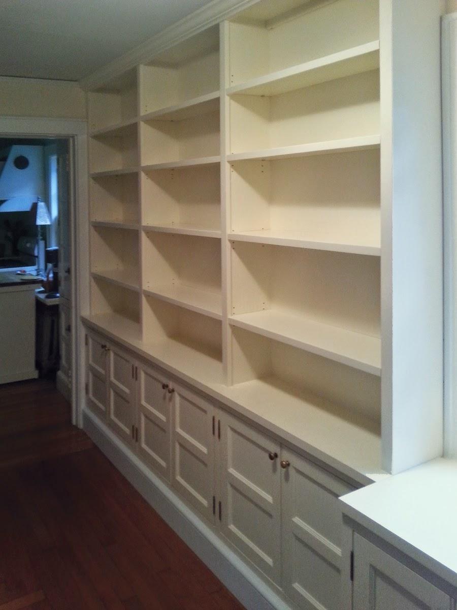 Hallway Bookcase with Built-In Storage