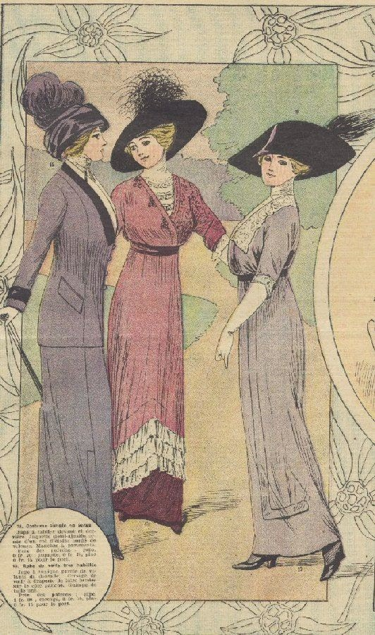 Time Traveling In Costume 1914 Purple Plaid Butterick 6093
