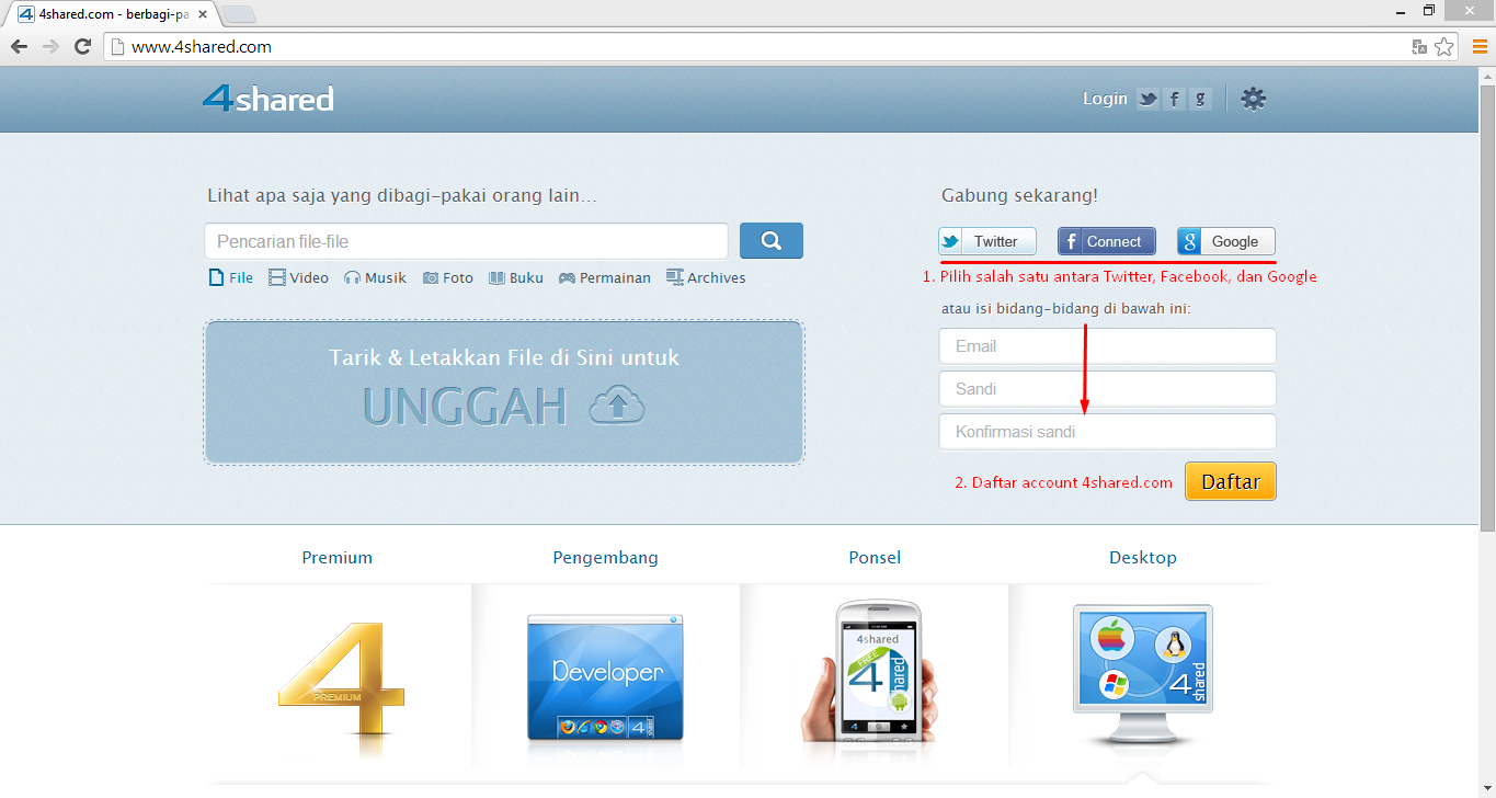 Cara Download File di 4shared.com 2