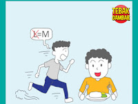Tebak Gambar Orang Berlari L diganti M Orang Makan