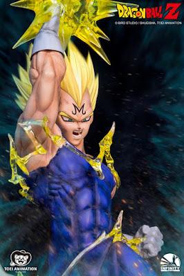 Infinity Studio presenta su espectacular diorama de SS2 Goku Vs Majin Vegeta 1/6