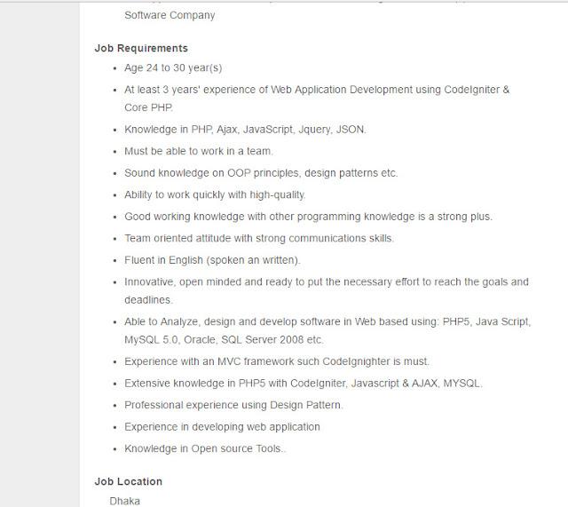 send your cv to giantssoftbdgmailcom - Php Mysql Jobs