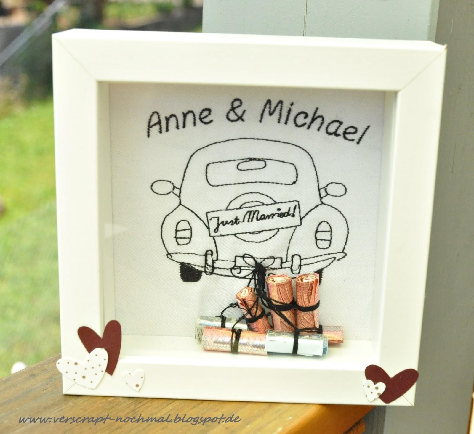 Hochzeitsgeschenk Bilderrahmen Geld Diy Geldgeschenk Zur Hochzeit