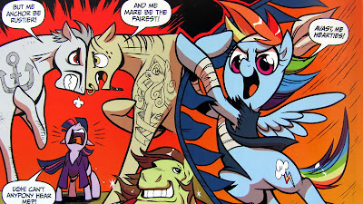 Rainbow Dash swings into action