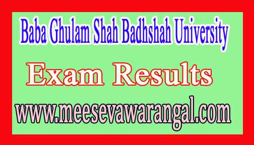 Baba Ghulam Shah Badshah University B.Tech (ITTE) End-Semester-II Backlog June 2016 Exam Results