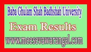 Baba Ghulam Shah Badhshah University B.Tech Computer Science / Engg IVth Sem Reg 2016 Exam Results