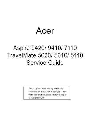 Acer Aspire 9410 Service Manual
