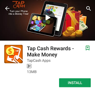 Tap Cash Rewords Application
