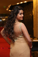 Actress Himaja Stills in Golden Spicy Long Dress at SIIMA Short Film Awards 2017 .COM 0266.JPG