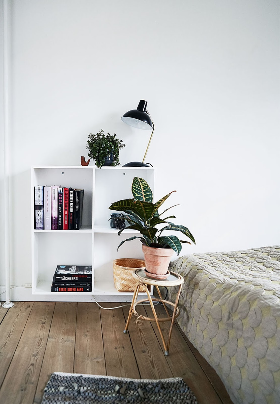 scandinavian interior, bookshelf, houseplants, interior design,