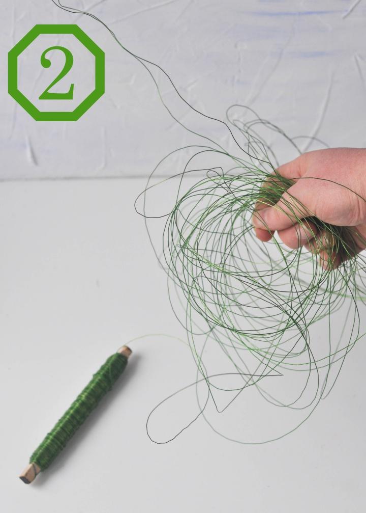 DIY wire baskets - step 2