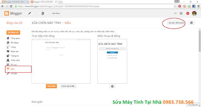 Hướng dẫn tạo giao diện blogspot từ mẫu có sẵn - H03