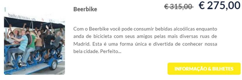 Madri - compre ingressos on-line para as atrações - Beerbike - Ticketbar