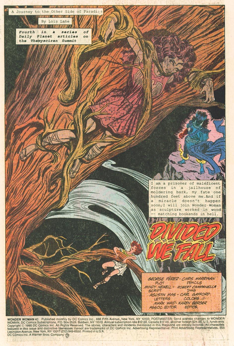 Read online Wonder Woman (1987) comic -  Issue #40 - 3