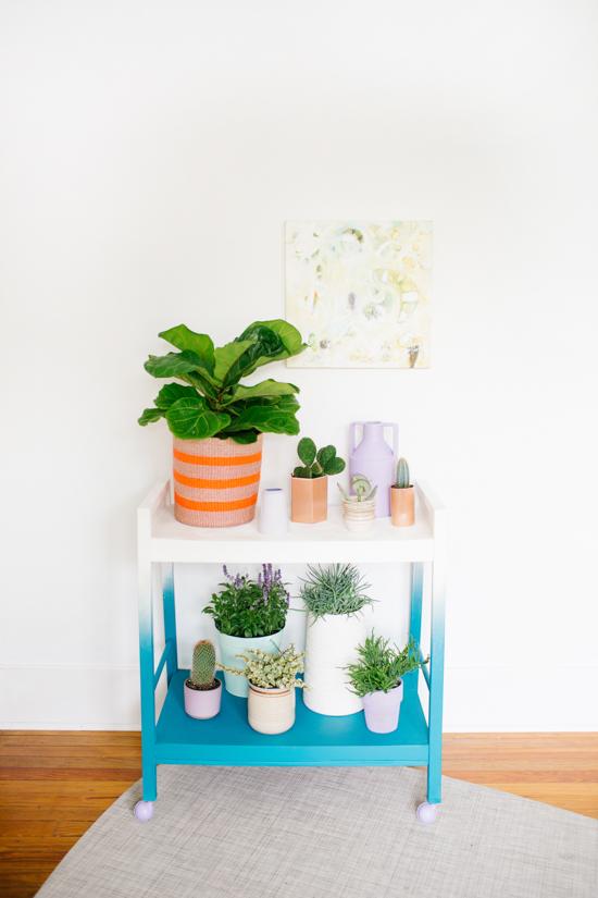 Mueble auxiliar plantas