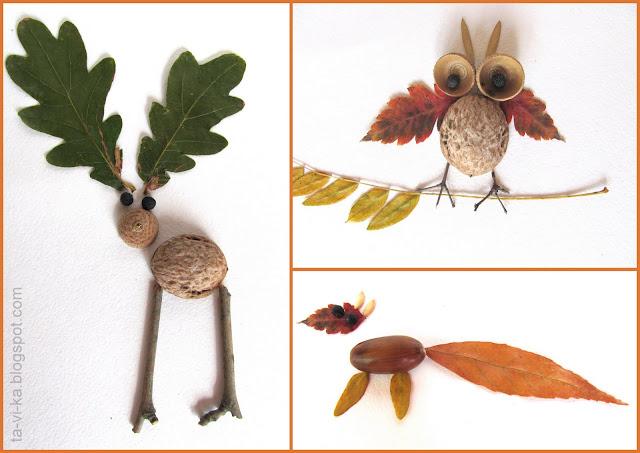 поделки из природных материалов nature craft animals