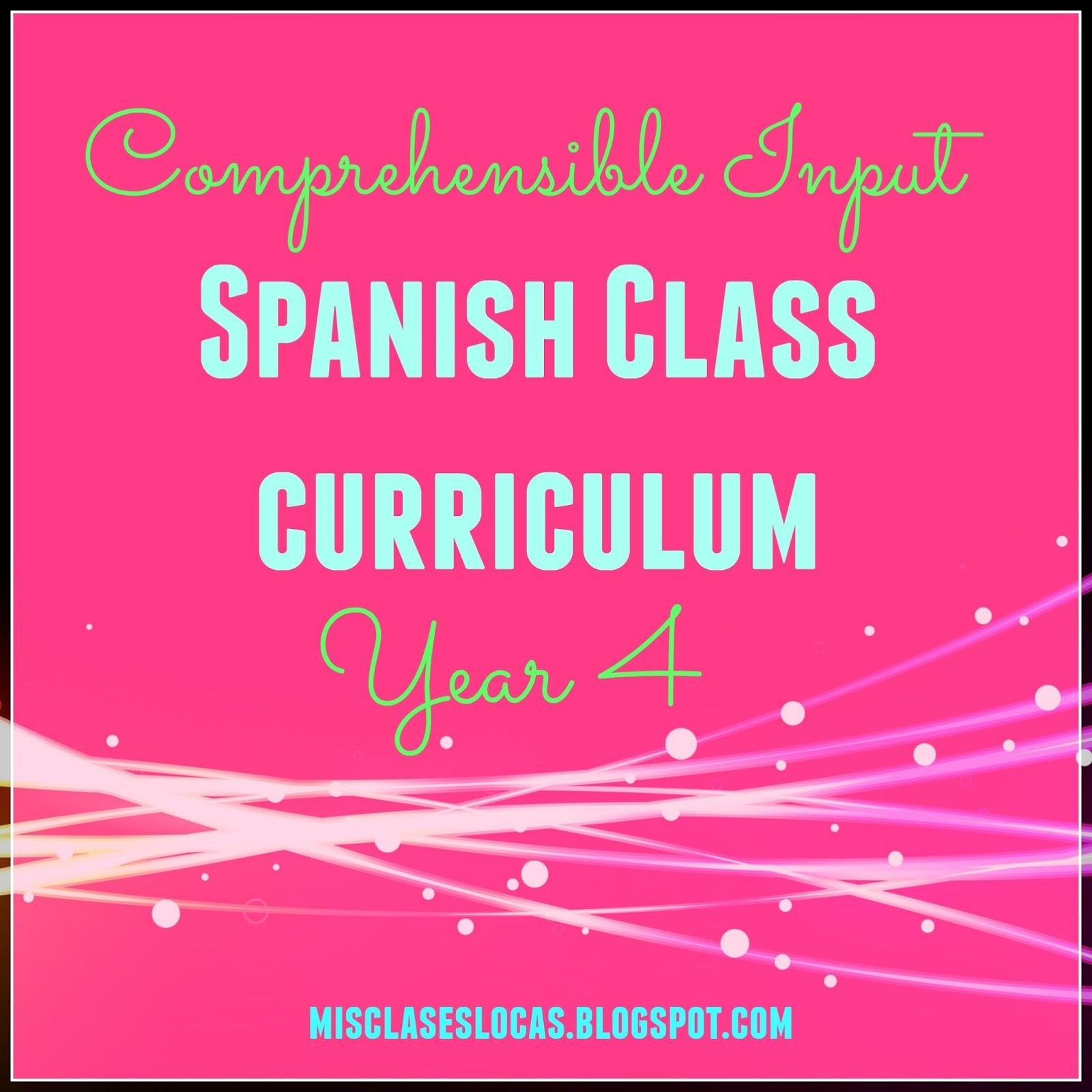 Curriculum Year 4 - Mis Clases Locas