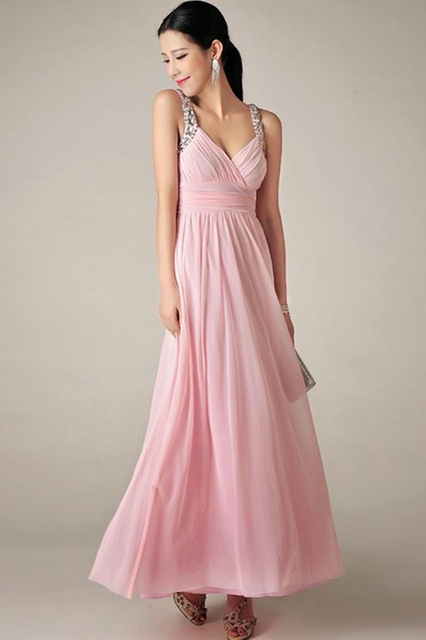 Sencillos y baratos vestidos largos de damas | Vestidos de mujer ...
