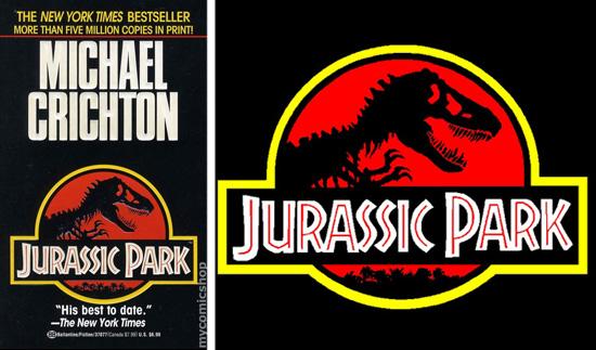 Jurassic Park - Logotipo Livro e Filme