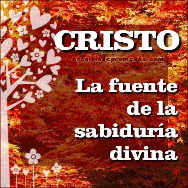 la sabiduría de dios está en cristo reflexiones cristianas con imágenes