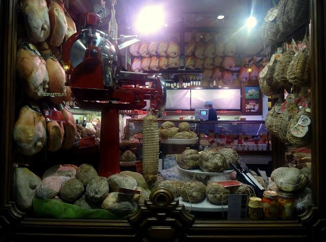 Gourmet food shop Parma, Italy
