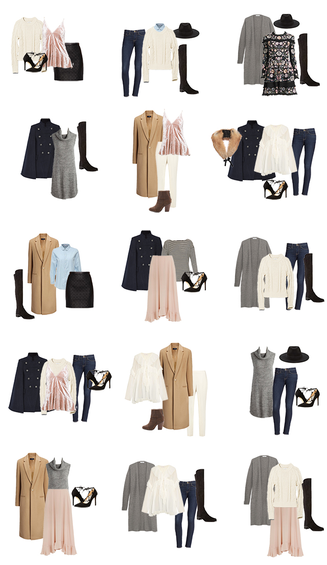How to create a stylish capsule wardrobe filled with minimalist, feminine clothes.