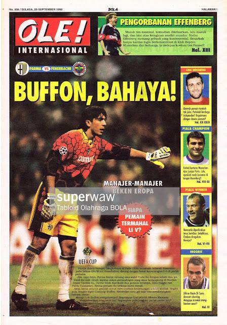 UEFA CUP 1998 GIANLUIGI BUFFON PARMA VS FENERBACHE