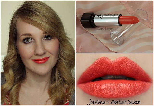 Jordana Apricot Glaze lipstick swatch