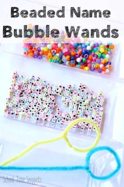 Beaded Name Pipe Cleaner Bubble Wands