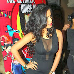 Poonam Pandey   Showing Huge Cleavage in Black Dress at What The Fish Film Party