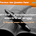 KTU QP : BE101-03-Introduction to electrical engg-JAN 2016-KTU live