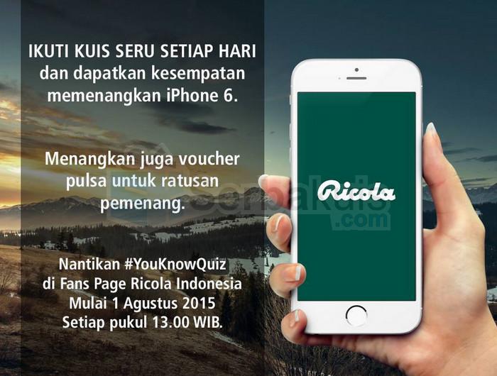 YouKnow Quiz Ricola Berhadiah 1 iPhone 6 & Pulsa per Hari