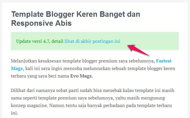 Cara Membuat Notification Boxes di Blogger