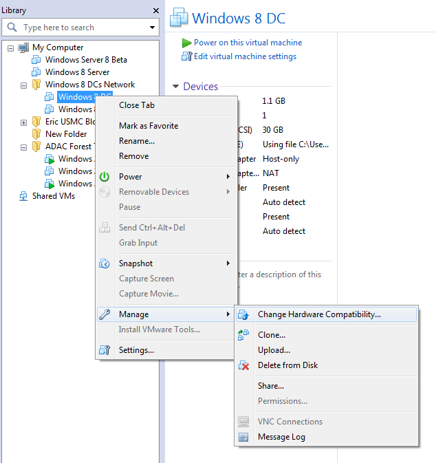 Windows Server 8 AD Cloning, Virtualization, and Snapshots