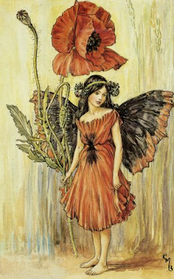 Red Poppy Fairy by Cicely Mary Barker