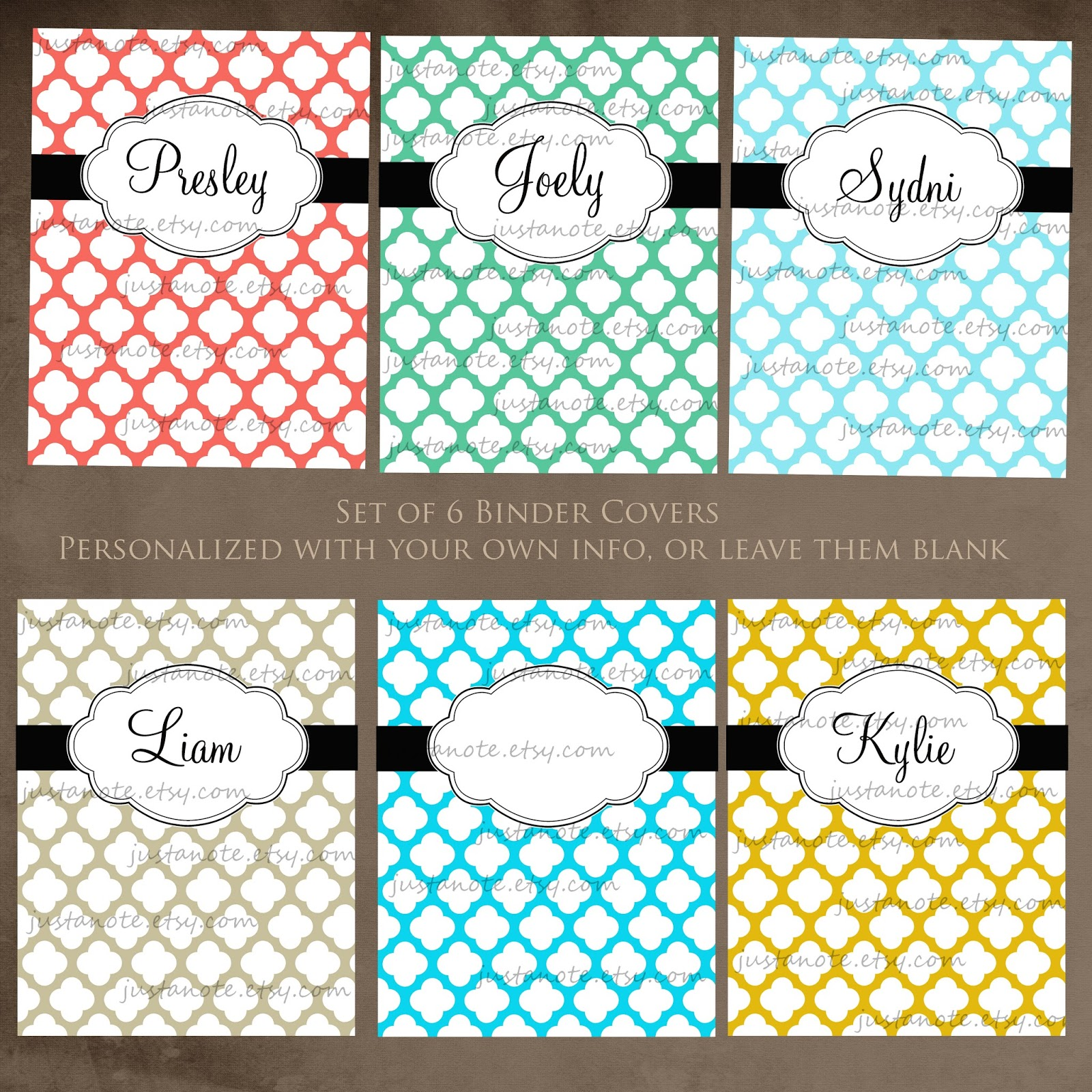 Free Printable Personalized Bill Organizer