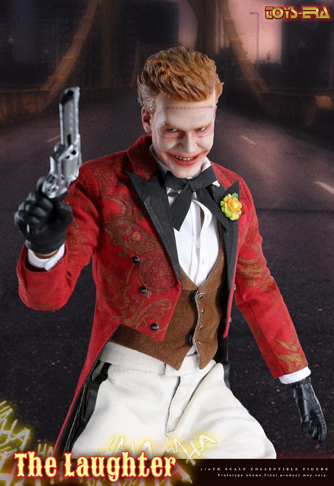 1//12 scale Toy-Harvey Dent-à Rayures Rouge Tie