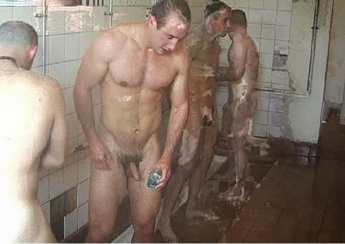 image Straight men in shower naked gay first time