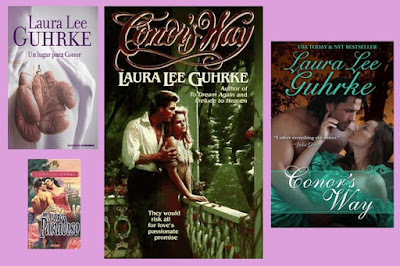 portadas del libro romántico histórico Un hogar para Connor, de Laura Lee Guhrke