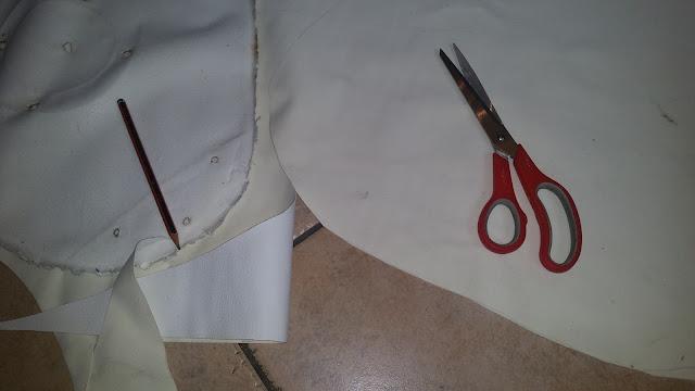 Tabouret de bar rénover assise tissu