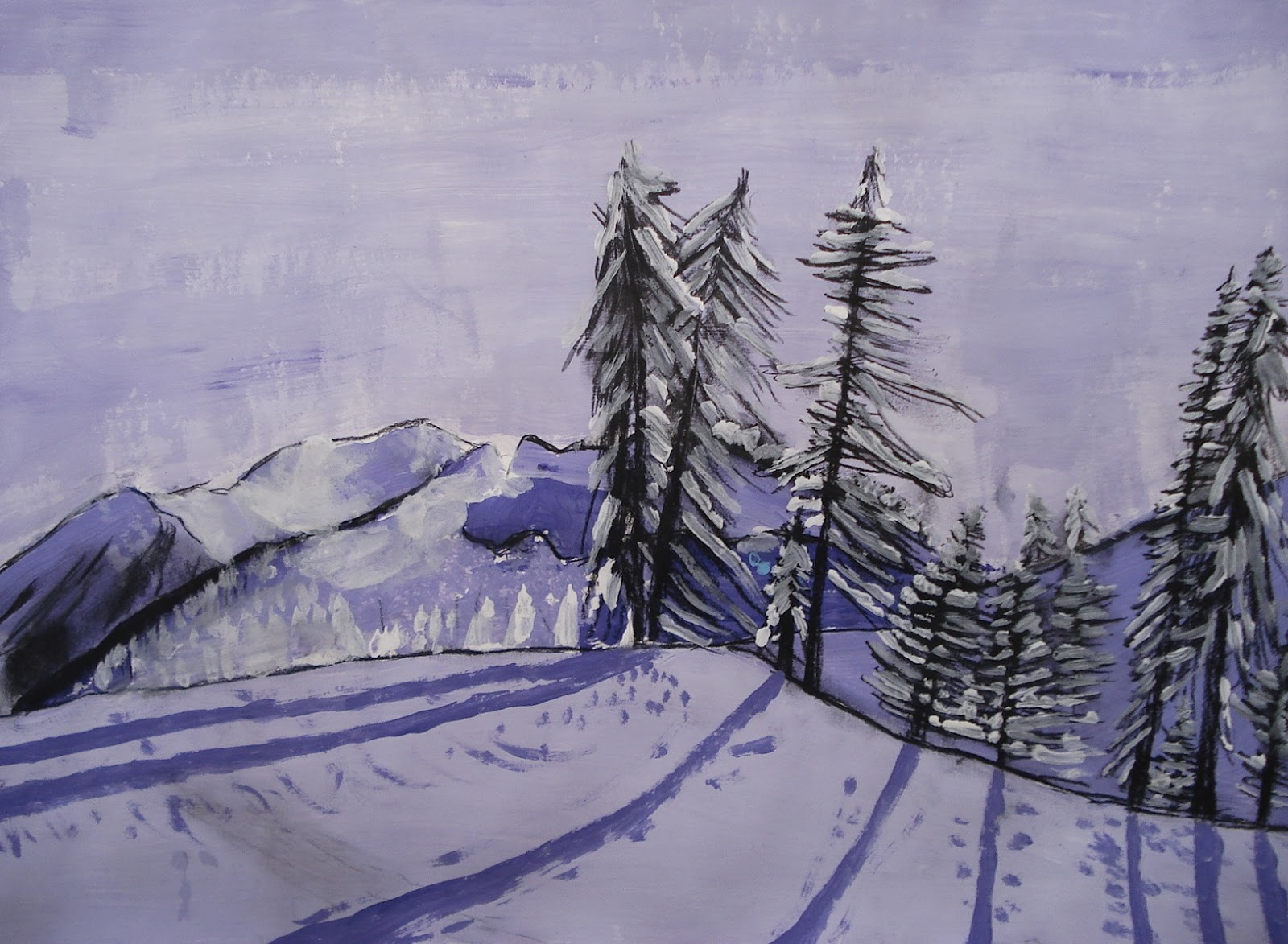 When Is It Too Cold To Paint Outside A Faithful Attempt: Winter White Landscape Paintings